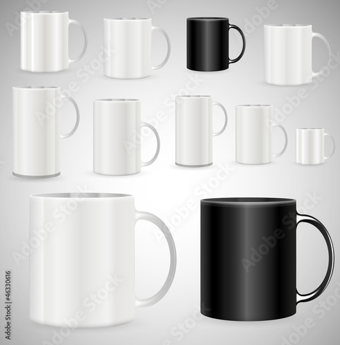 Coffee Mugs Vector