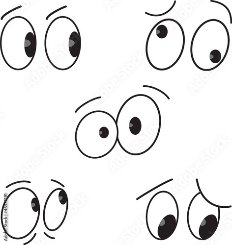 Cartoon eyes set.Vector