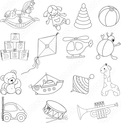 Gamesageddon zoo animals collection vector illustration for Baby toys coloring pages