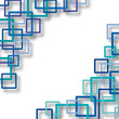 Vector Abstract Blue Squares Background