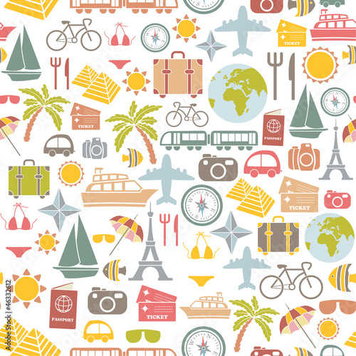 traveling pattern. seamless background