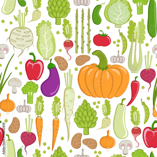 seamless pattern. healthy vegetable