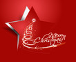 christmas star, design, vector illustration.