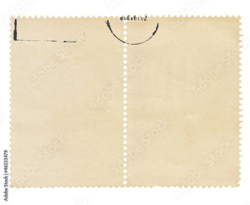 old postage stamp frame