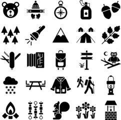 Hiker&Mountain icons