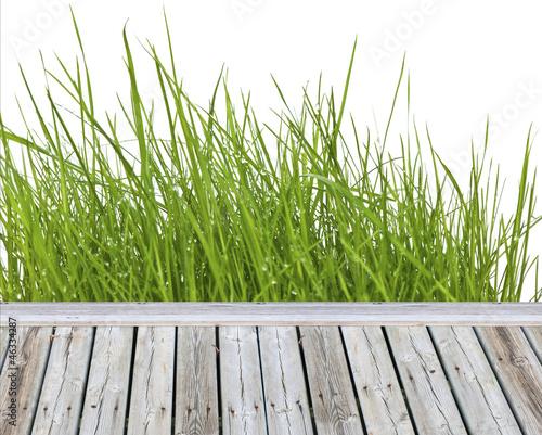 herbe en bordure de terrasse de unclesam photo libre de droits 46334287 sur. Black Bedroom Furniture Sets. Home Design Ideas