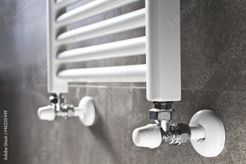 Bathroom heater closeup