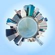 Planet Manhattan, New York City. USA. Miniature planet of Manhat