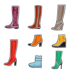 Boots icon set