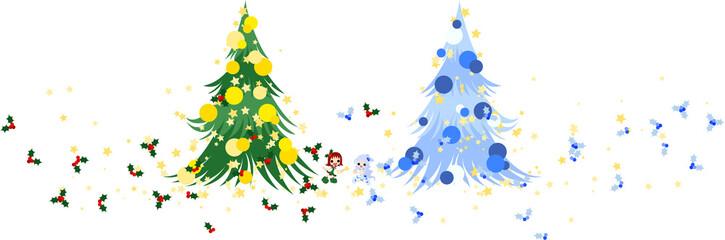 クリスマスに、可愛いヒイラギの妖精が空を舞う。