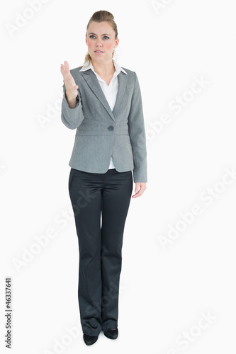 Businesswoman being angry