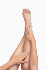 Legs outstretched