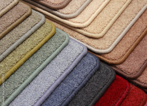 Samples of coverings of a carpet