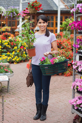 Woman shopping in garden center