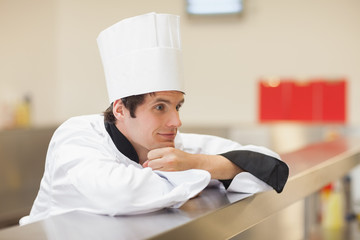 Chef looking away