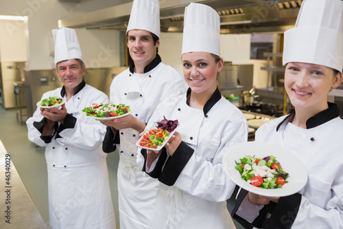 Happy Chef's presenting their salads