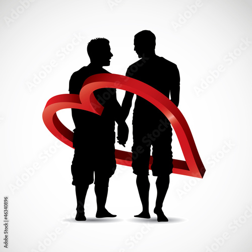 Gay couple - vector illustration