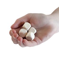 lancer des dés avec la main chance hasard