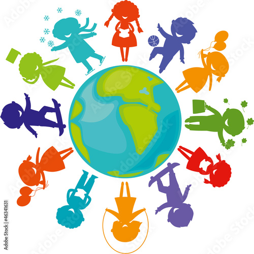 silhouettes_children_world