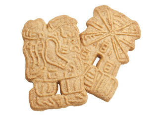 Speculaas Cookies Isolated