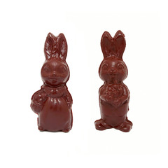 Couple of sweet chocolate Easter rabbits, home made