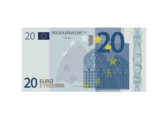 20 Euro Schein - Vektor
