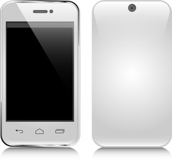 White mobile phone