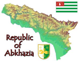 Abkhazia Europe national emblem map symbol motto
