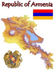 Armenia Europe national emblem map symbol motto