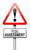Risk assessment concept. poster