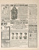 newspaper page with antique advertisement. france 1919