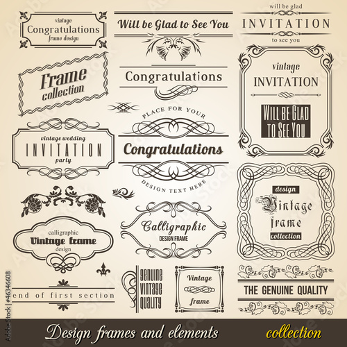 Flourish Border Corner and Frame collection