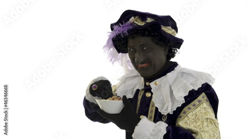 Zwarte Piet is eating gingernuts