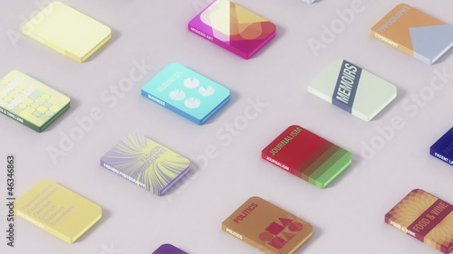 Electronic Books Seamless Background Loop
