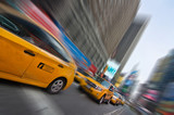 Fototapety Taxi à New York, Times square - USA