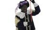 Zwarte Piet is doing a magic trick