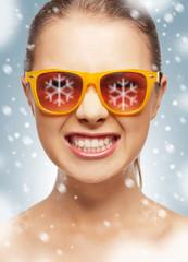 funny teenage girl in shades