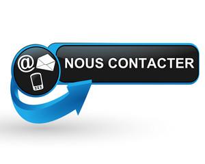 nous contacter sur bouton web design bleu