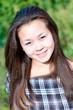 Beautiful young asian girl outdoor