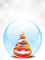 abstract glossy christmas glass