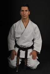 Saludo tradicional de Karate y Judo. Seiza