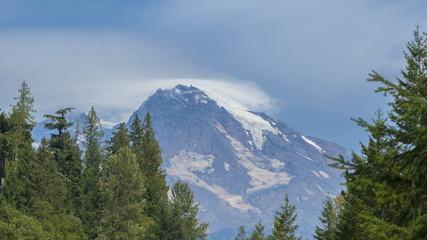 Timelapse of clouds passing the peak of Mt Rainier