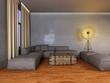 Rustikales Apartment im Vintage Loft Stil Abends