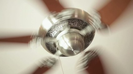 Ceiling fan on high speed