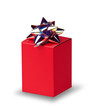 Red box with silver bow