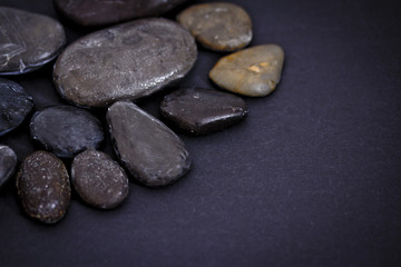 black stones background