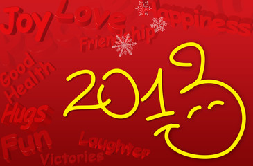 Best Wishes for the New Year SMILEY 2013 Greeting Card