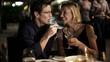 Caucasian couple in restaurant