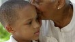 African American grandmother with grandson