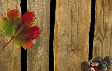 Herbstliche Pinnwand aus Holz